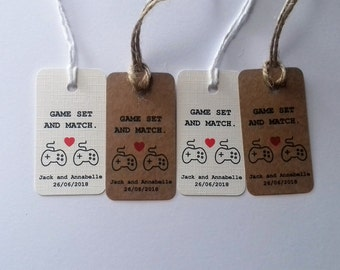 Geek Wedding, Gaming Wedding, Gamer Wedding, Gaming Wedding tags, Geek Wedding favour tags, Gamer favor, Gaming favor.