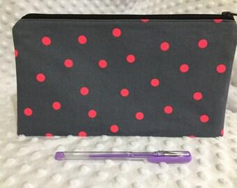 Zipper Pouch, Pencil Case, Teacher Gift, Teen gift, Back to school, New Mum Gift, Nappy Bag, Organiser, Cosmetic bag, Uni student gift