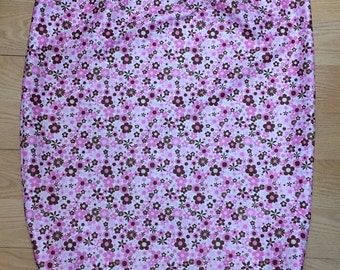 PUL wet bag, PUL diaper wet bag, Diaper Pail liner, pink flowers