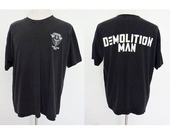 Vintage 90's DEMOLATION MAN wesley snipes movie promo tee tshirt