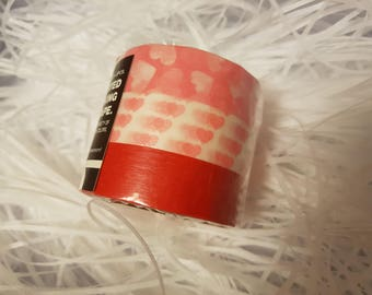 Japanese Washi Tape 3 Rolls Pink Hearts