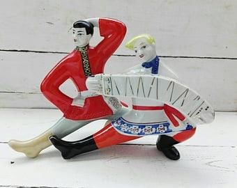 Mens gift for friends Soviet vintage Lovers Vintage statue Porcelain figurines Antique Porcelain ceramic figurine Collectible figurine