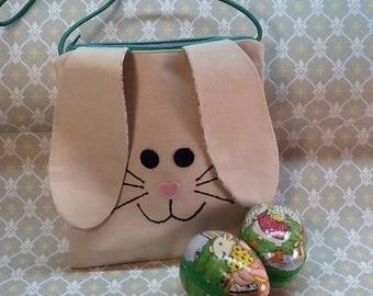 Bunny Purse, Little Girl's Bunny Purse, Easter Bunny Bag, Child's Bunny Bag