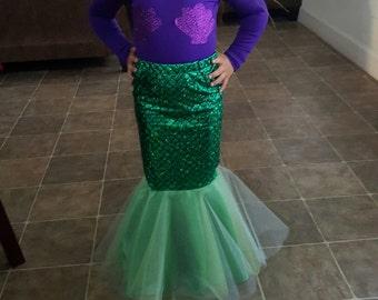 Little mermaid themed skirt