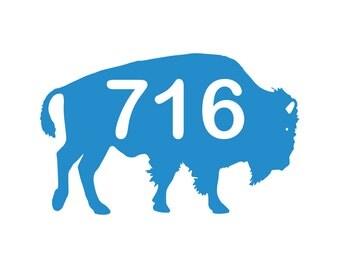 716 Buffalo Vinyl Decal