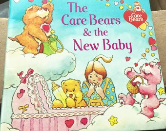 Vintage Children's Book Care Bears and The New Baby