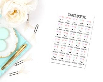 Kawaii Homework/School Planner Stickers