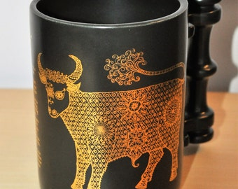 Portmeirion Zodiac mug Taurus the Bull John Cuffley 1970s