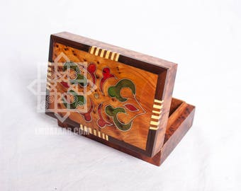 Thuya wood box/Moroccan wood boxes/Hand-carved Jewelry Box/Thuja Wood Keepsake Box