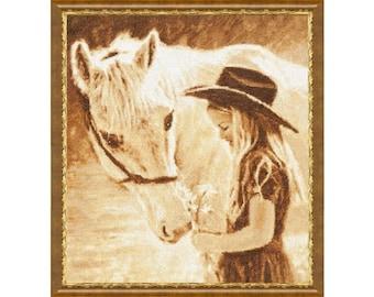 Cross Stitch Kit Favourite horse