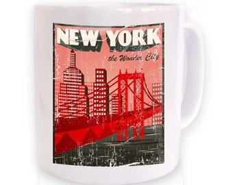 New York The Wonder City (Distressed) mug