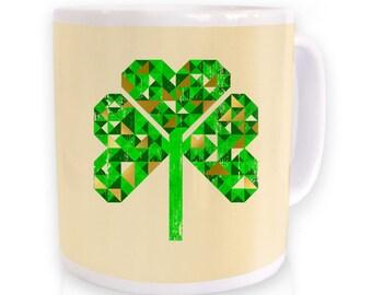 Geo Shamrock mug