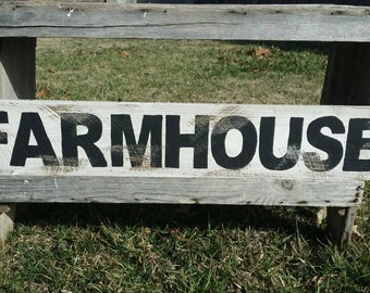 Farmhouse Rustic Sign, Wood Wall Decor, Distressed Wall Art Farmhouse Kitchen Sign