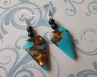 Earrings Silver 925, stone earrings, natural earrings Jaspis OhrringeBoho earrings, ocean of Jasper earrings Ocean earrings purple