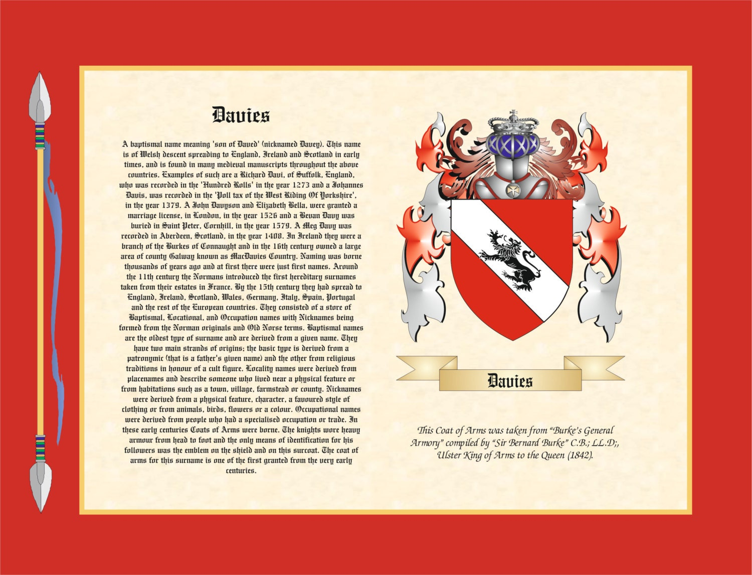 Family Origin and Surname Coat of Arms Family Crest Scrolls