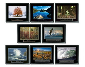 8 Framed Motivational Poster Set Classroom Complete Business Office Wall Decor Size 22x28 Inches Free Shipping