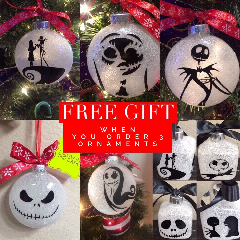 Nightmare before christmas ornaments - Nightmare Before Christmas Jack And Sally Christmas Ornaments