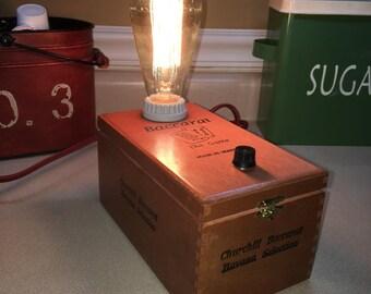 Reclaimed Cigar Box Lamp