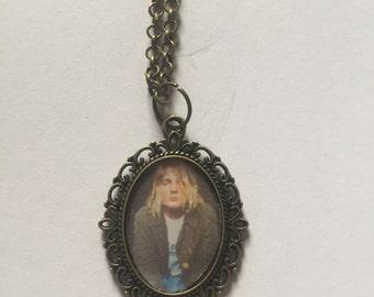 Kurt Cobain Bronze Cameo Necklace