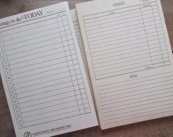 Things To Do Vintage List Making Notepad Paper Ephemera Craft Supply