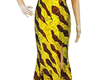 Sequin Dress - Robe Or  - Diva Dress, Cabaret Dress, Sequin Gown, Diva Sequin Dress, robe à paillettes, Paillettenkleid