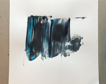 Original abstract art, minimalist painting, acrylic on paper