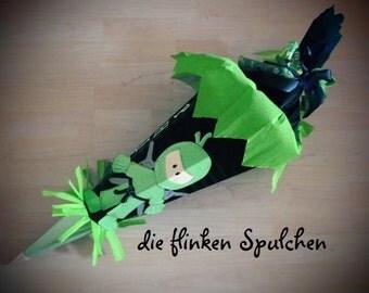 finished Schultüte, Ninja (Green/Black)
