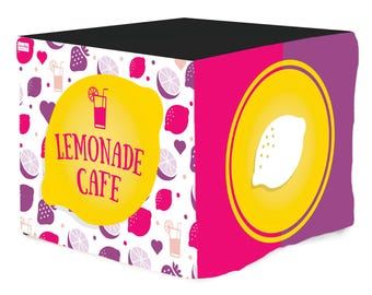 Lemonade Cafe easy Lemonade Stand- Slides over a card table (not included)
