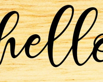 Hello Wood Sign, Hello Sign, Welcome Sign, Home Sign, Wood Wall Art, Home Decor, Wood Signs Cut Out