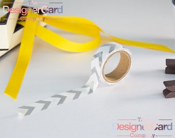 Silver Foil Chevrons Washi Tape Masking Tape