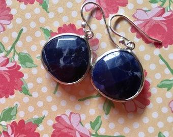 sodalite earrings.