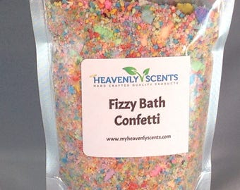 Fun Fizzy Bath Confetti - 5 ounces of Bath Bomb Like Confetti - Resealable Bag