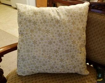 Golden Snowflake  Pillow