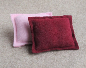 Piggy Pillow Set - Pink/Burgundy