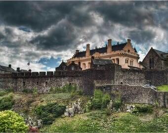 Stirling Castle, photograph of Stirling Castle, Stirling Castle Great Hall, Mounted Image of Stirling Castle