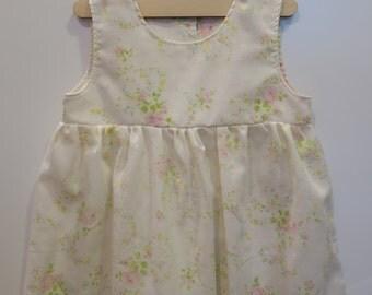 Vintage Floral Pillowcase Dress- Size 2T