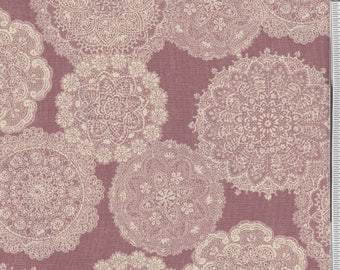 Prima - Per Yd - Paintbrush Studio -  Lace on Mauve/rose