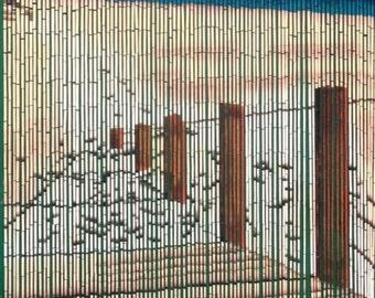 Walkway to the Beach Bamboo Beaded Curtain