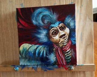 Labyrinth Worm Painting- fan art  the labyrinth movie ello worm handpainted with acrylic