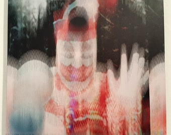 Serial Popers John Wayne Gacy,Glitch Art,Vinyl,Aluminium,35x35cm(13.77x13.77 inches),Limited Edition