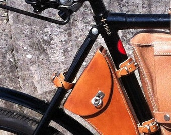 Tool bag leather Swiss Army military bicycle ordnance wheel 05 army bicycle