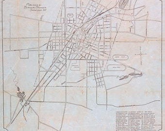 1898 Map of Saratoga Springs New York