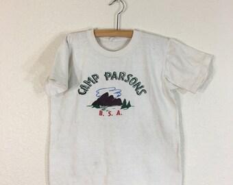 1960's vintage boy scouts official ink print 100% cotton t-shirt