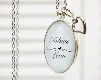 Lovingly personalized necklace in oval 62cm