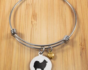 Pomeranian Bracelet | Stainless Steel Adjustable Bangle Bracelets | Dog Bracelets | Dog Jewelry