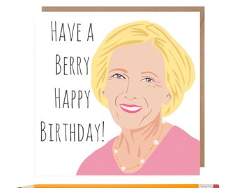 Funny Bake Off Card • Mary Berry Birthday Card • GBBO Birthday card • The Great British Bake Off Card • Baking Card