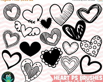 75% OFF SALE Photoshop Heart Brushes, Png Images + PS Brush, Photoshop Heart Brush Set, Photoshop Brushes, Digital Stamps  - UZPSB879