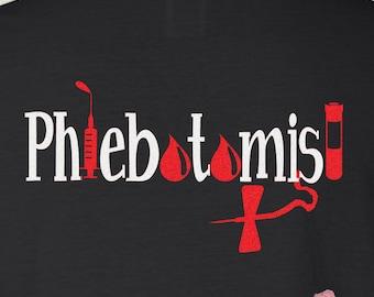 Phlebotomist Phlebotomy Student Life Shirt Customized Personalized Monogrammed