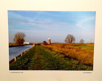 "West Somerton Mill, Norfolk Broads, Norfolk Countryside, Signed Limited Edition A3 Landscape Color Photograph in 50cmx40cm (20""x16"") Mount."