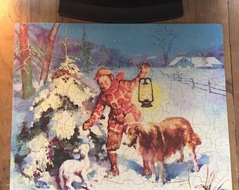 Vintage Puzzle Lassie Dog
